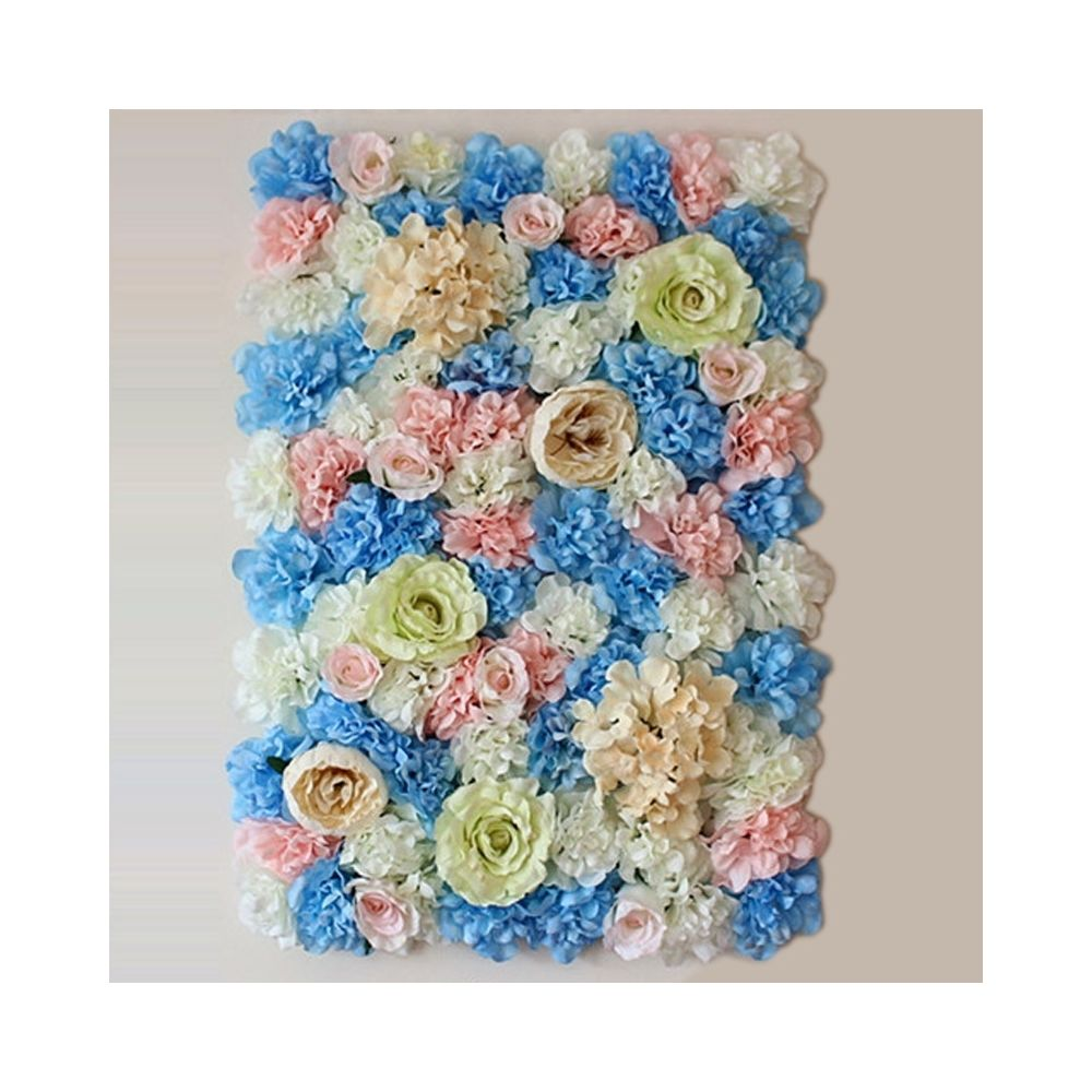 Wewoo Décoration Jardin blanc et rose Bleu floraison pivoine hortensia artificiel cryptage fleur bricolage mariage mur photo f