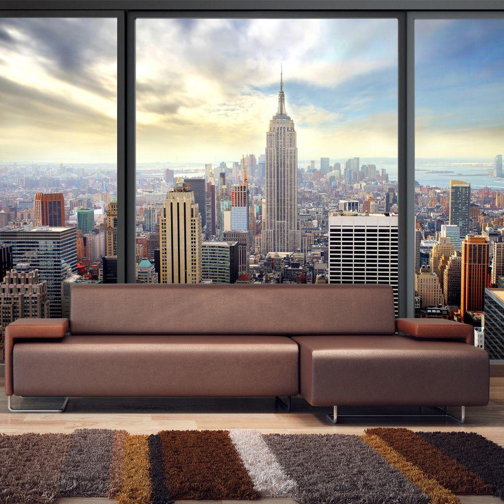 Bimago Papier peint - Ville derrière vitre - Décoration, image, art | Ville et Architecture | New York |