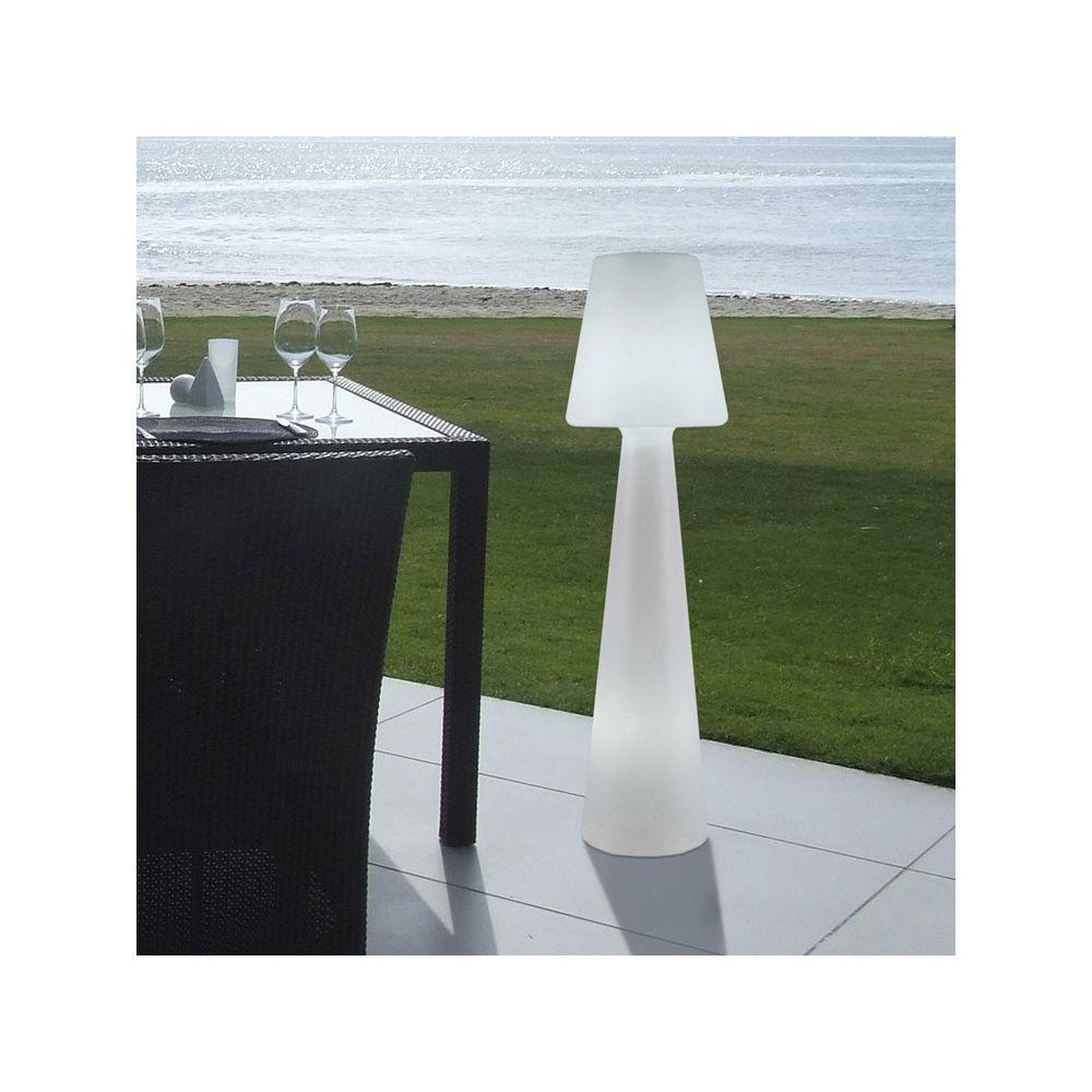 New Garden Lampadaire extérieur blanc en polyéthylène 110cm LOLA