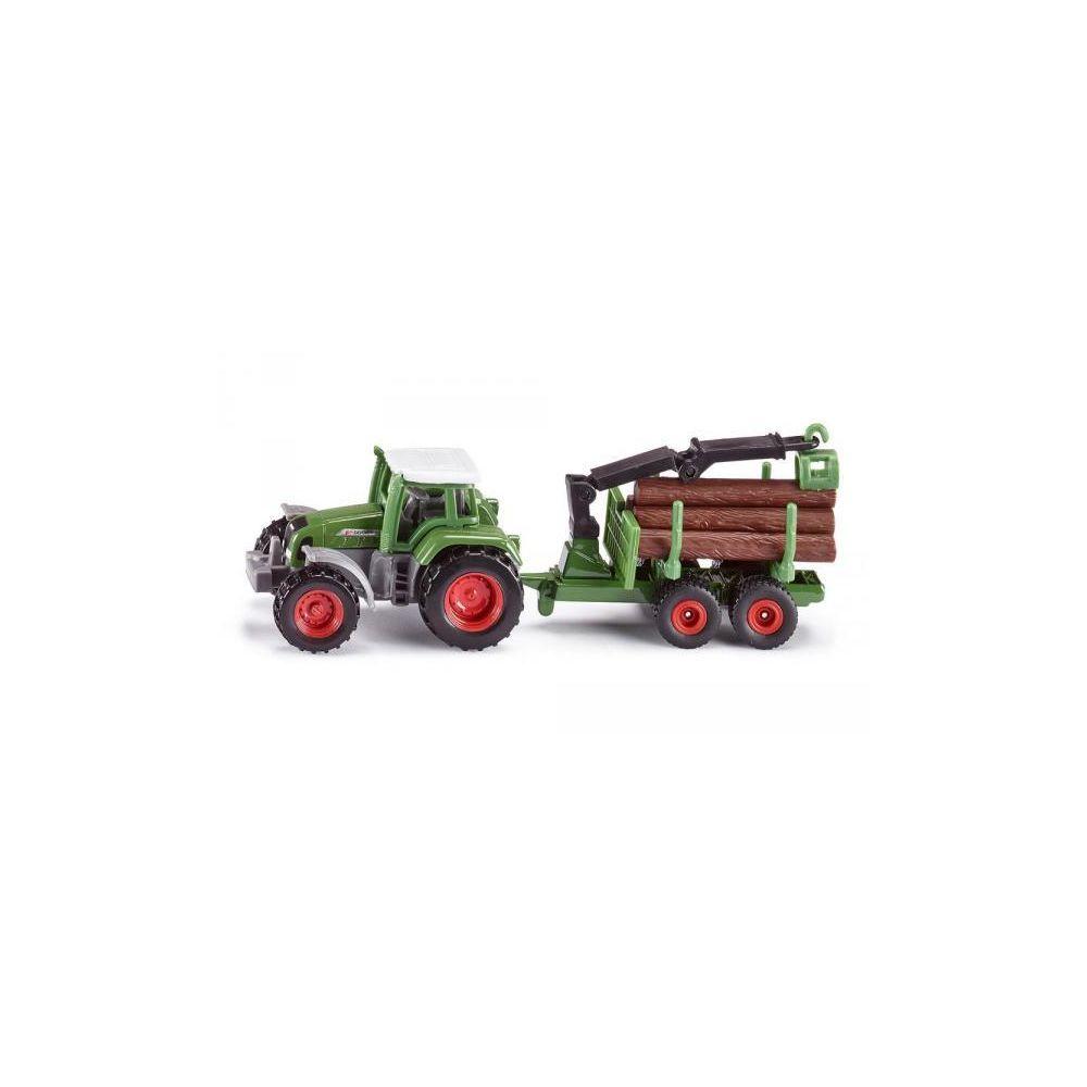 SIKU Tracteur avec remorque forestière