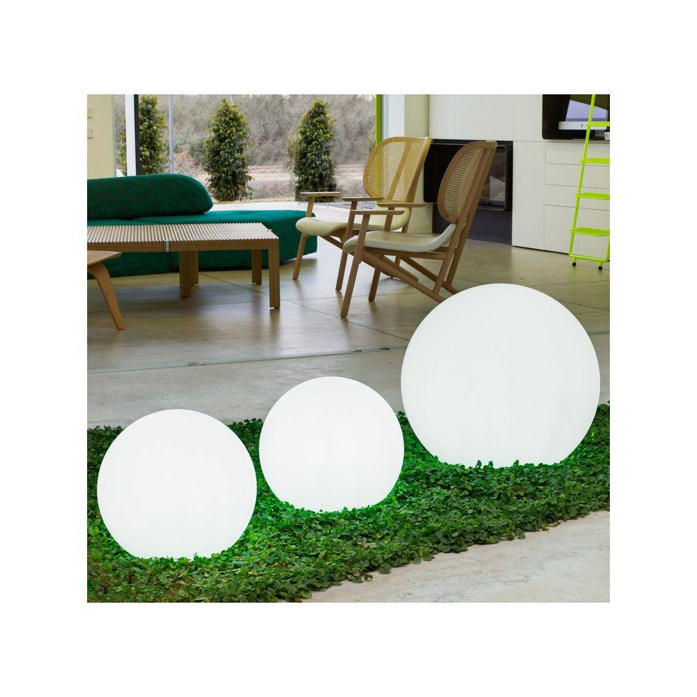 New Garden Boule lumineuse extérieure en polyéthylène blanc D60cm BULY