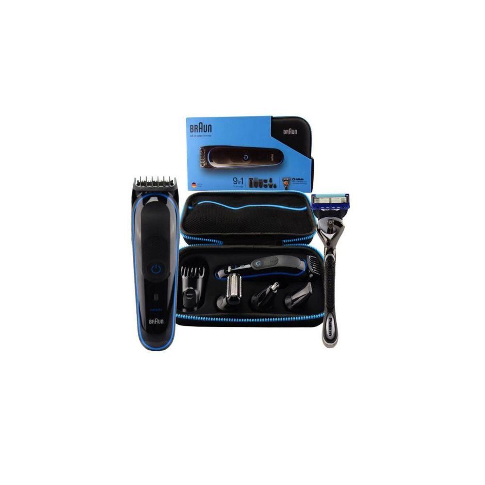 Braun Braun Mgk3980 Kit Tondeuse Polyvalente - Avec Accessoires - Noir Et Bleu