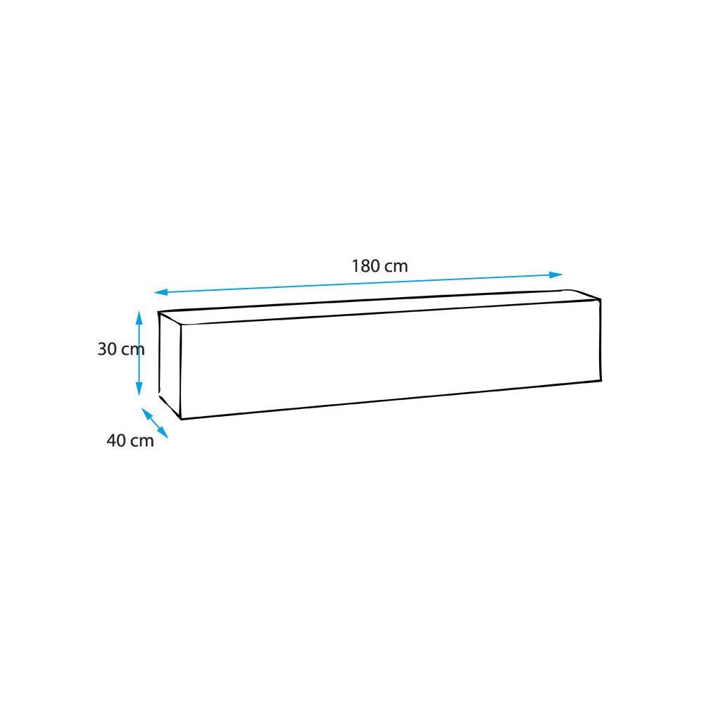 Design Ameublement Meuble TV modèle Berit 180x30 couleur noir