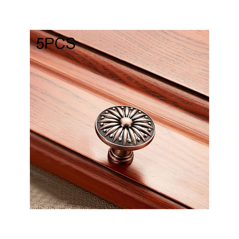 Wewoo Poignée d'armoire 5 PCS 6077 de meuble en bois massif poignées bronze rouge