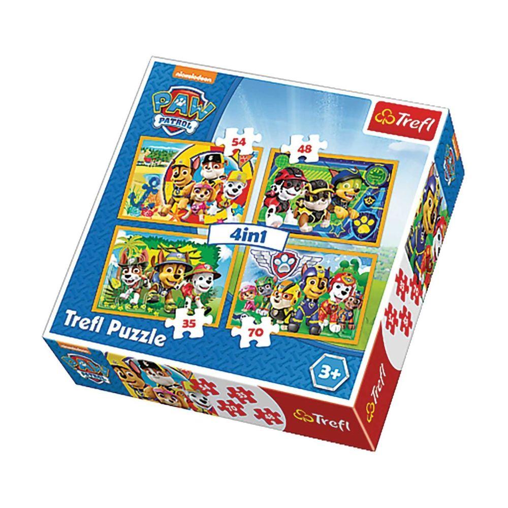 Imagin 4 Puzzles Pat Patrouille - + 4 ans - 35/48/54/70 pièces