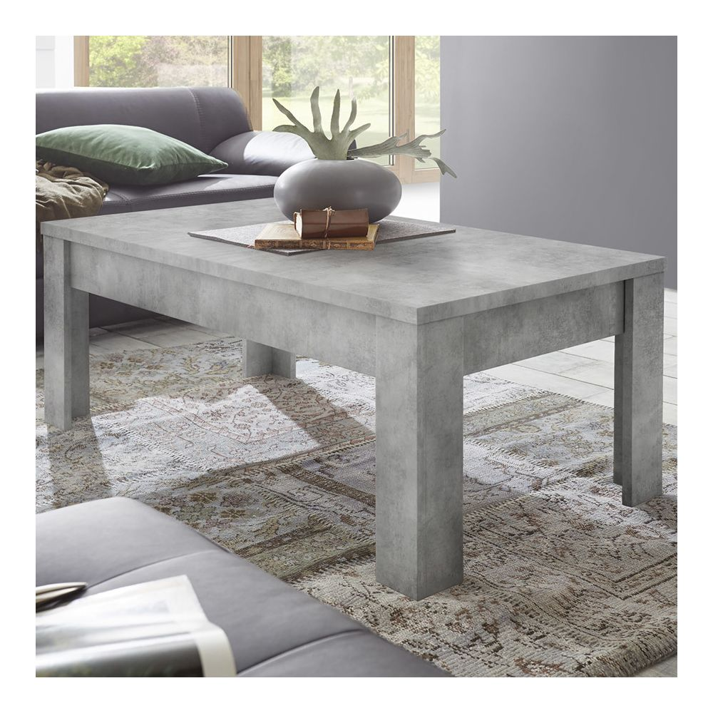 Sofamobili Table basse 120 cm design couleur béton ARTIC 4
