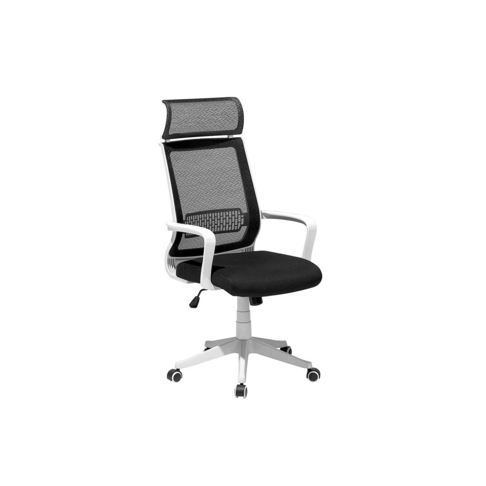 Beliani Beliani Chaise de bureau design noir blanc LEADER - noir et blanc