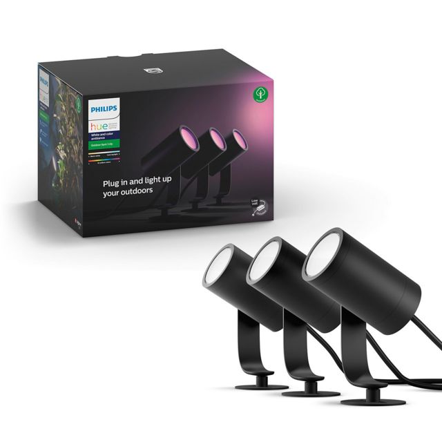 Philips Hue - White & Color Ambiance LILY Kit 3 Spots 8W - Anthracite - Eclairage connecté
