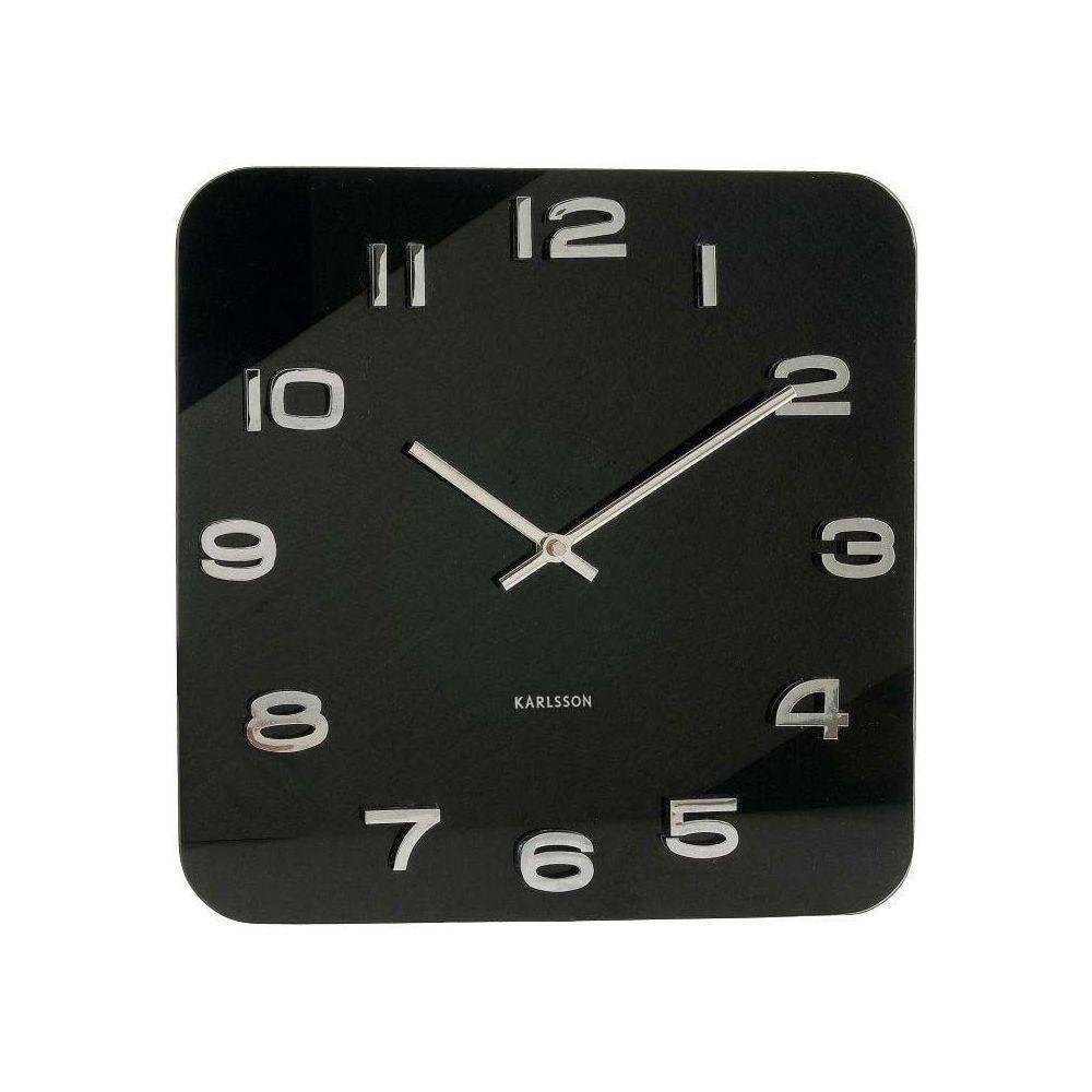 Karlsson Horloge carrée vintage en verre 35 cm