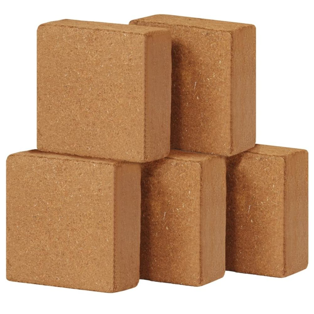 Vidaxl vidaXL Bloc de coco 5 pcs 5 kg 30 x 30 x 10 cm