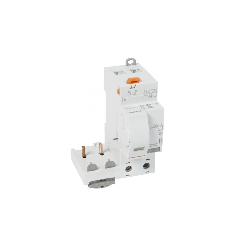 Legrand Legrand 410402 - Bloc différentiel adaptable DX3 - vis - 2P 230/400V 63A 30mA - type AC - disjoncteur 1 mod/pôle