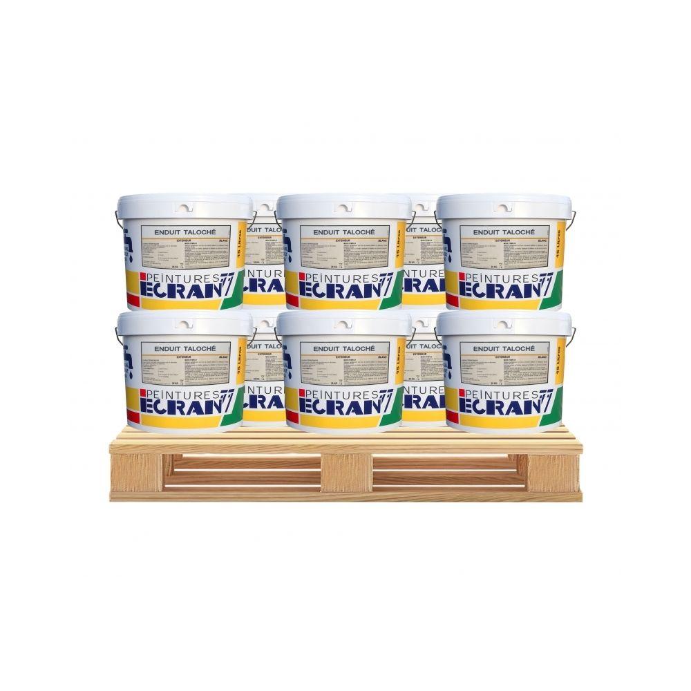 Peintures Daniel Enduit façade taloché pour extérieur blanc, 25 kg, prêt à l'emploi-10 x 25 Kg