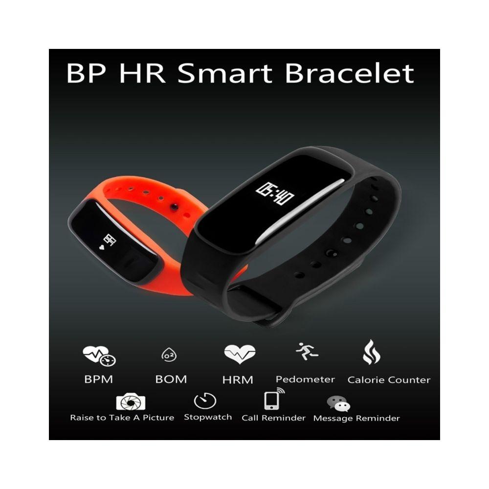 Wewoo - Bracelet connecté noir futé de Bluetooth de..