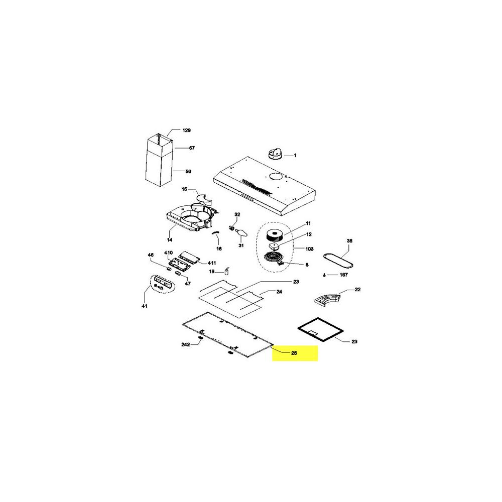 Indesit GRILLE FILTRE CM60 HI151IX POUR HOTTE INDESIT - C00265915