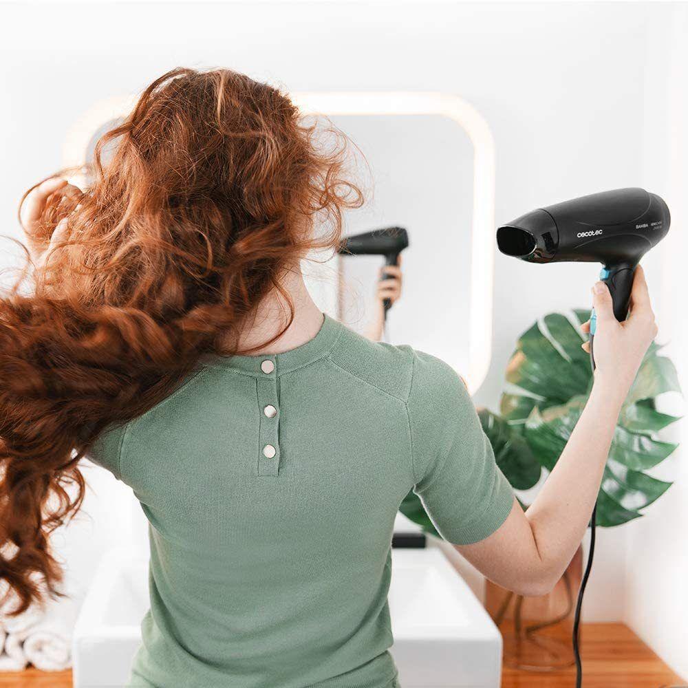 Cecotec sèche cheveux ionique avec diffuseur ion et grand débit d?air 2400W bleu noir