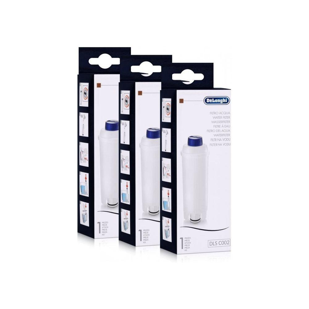 Delonghi Lot de 3 filtres à eau originaux pour machines à café delonghi