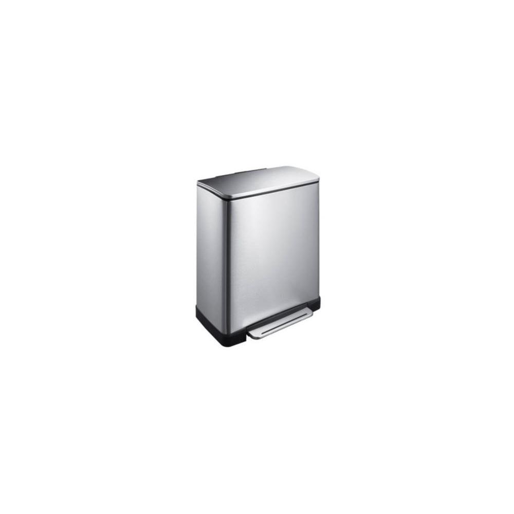 Rubbermaid Poubelle de Tri Sélectif E-cube 50L Inox