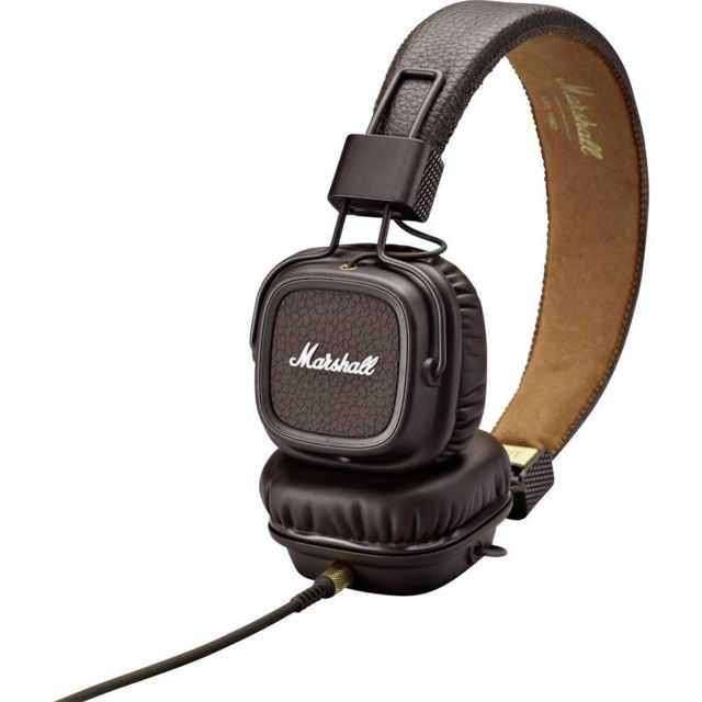 Marshall - Casque filaire supra-aural Marshall Major II pliable, micro-casque marron - Marshall