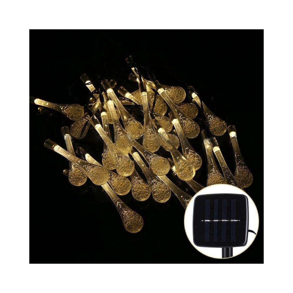 Wewoo Guirlande blanc Vie de panneau solaire de 5m 240-360LM imperméable 30 lumières de de forme de waterdrop de LED avec le c