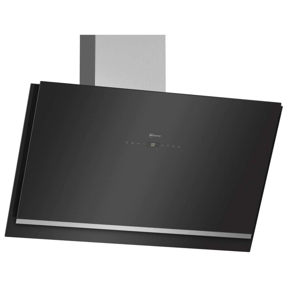 Neff neff - hotte décorative inclinée 89cm 740m3/h noir - d95ikp1s0