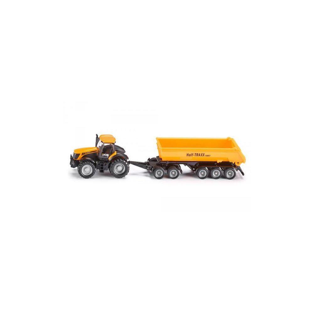 SIKU Tracteur JCB avec dolly et benne basculante