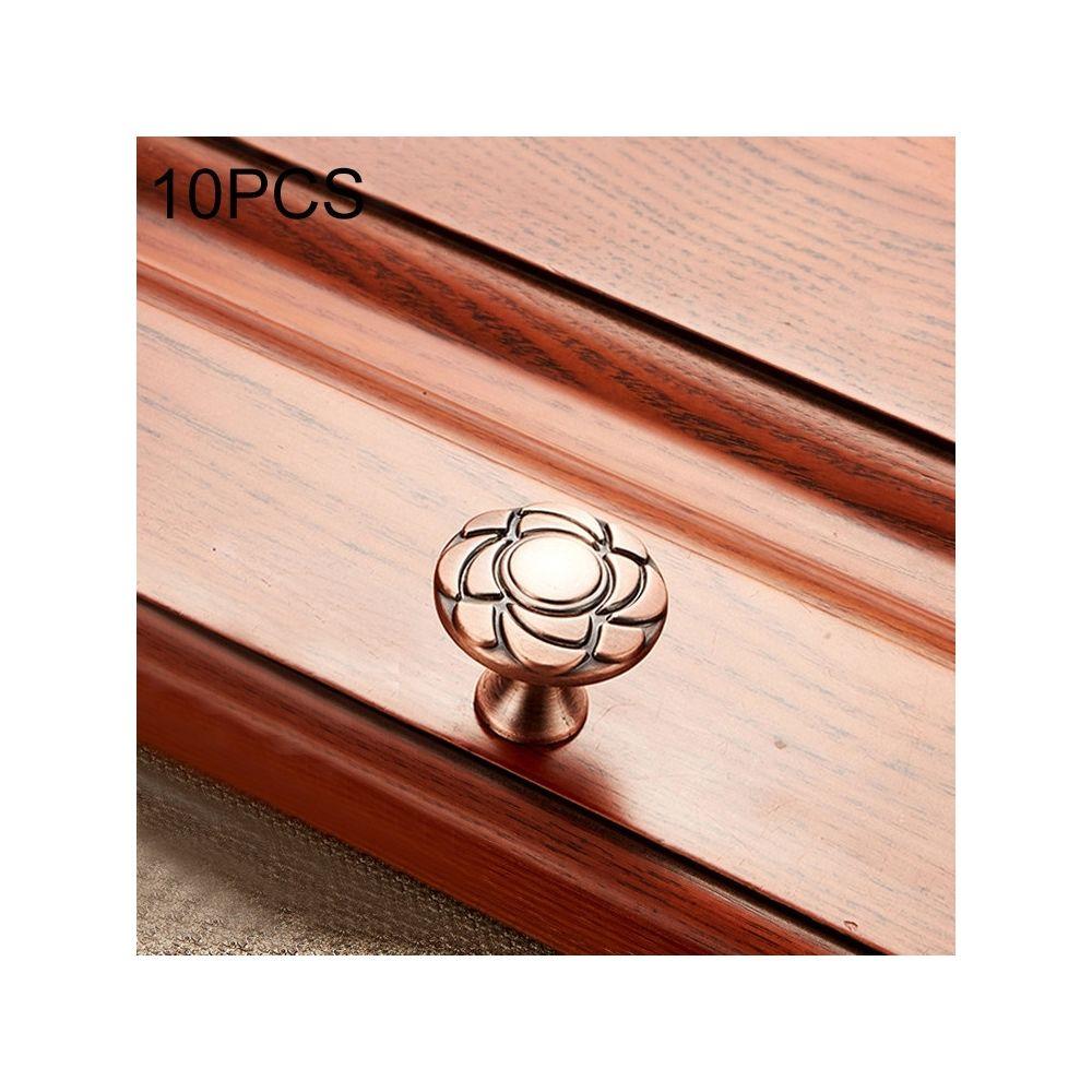 Wewoo Poignée d'armoire 10 de meuble en bois massif PCS 6070 Poignées bronze rouge