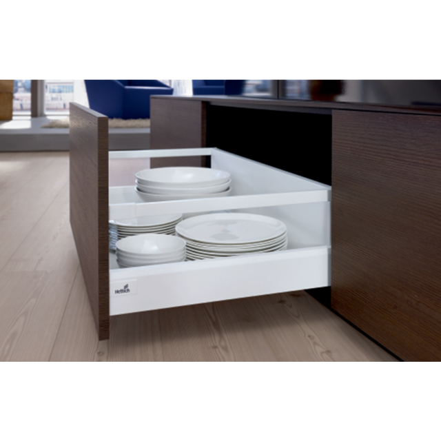 Hettich France - Set de tringles HETTICH ArciTech longitudinale - 650 mm - Blanc - 9149292 - Hettich France