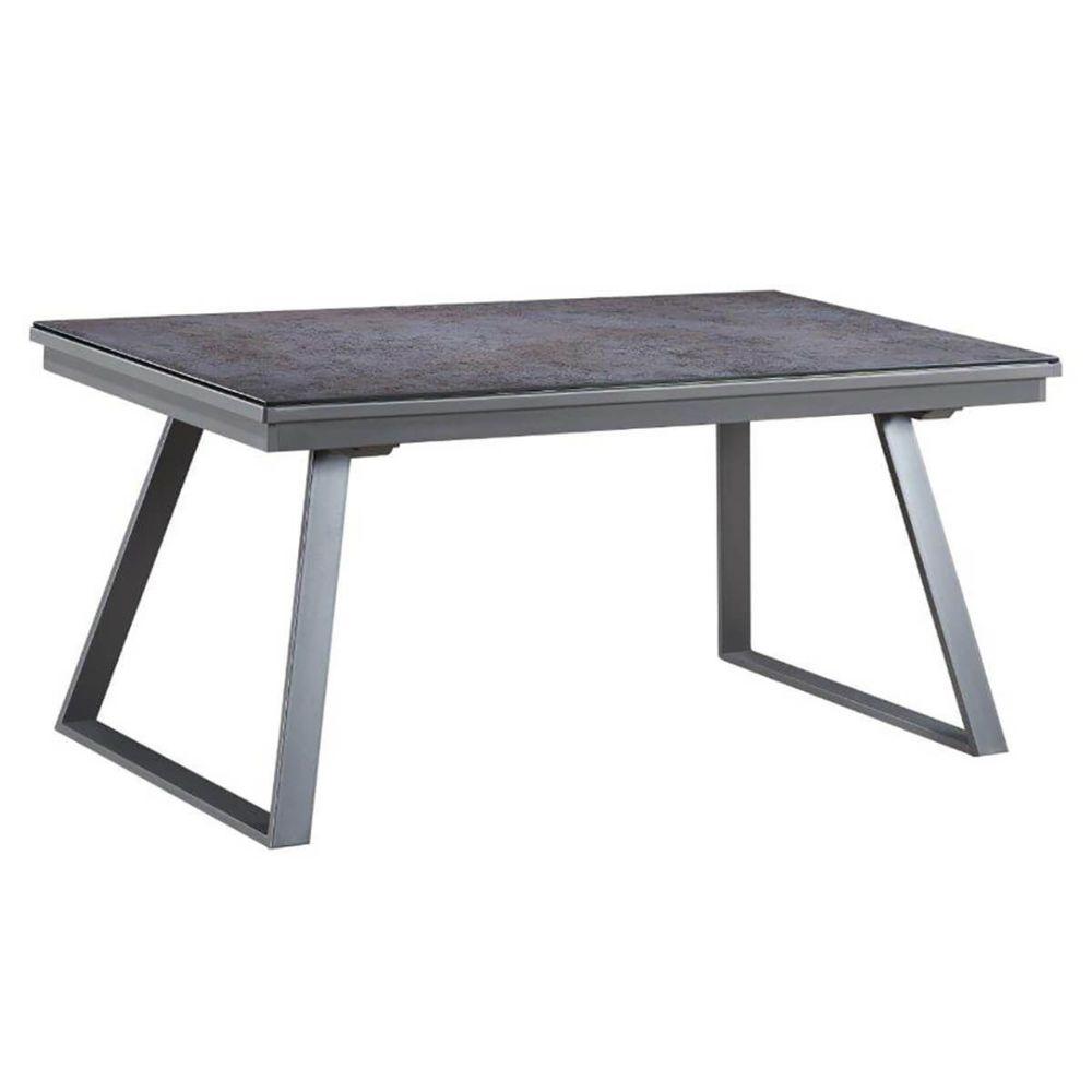 Altobuy Dirua - Table Repas Rectangulaire Métal et Verre