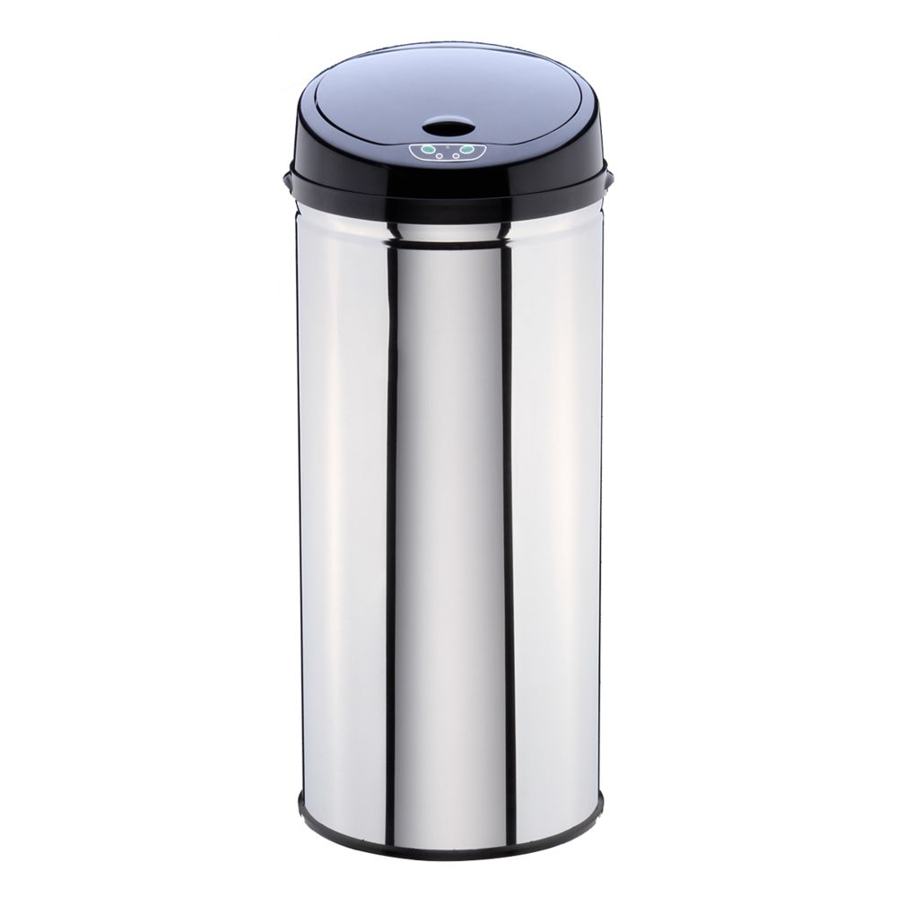 Clean House Poubelle ronde automatique à infrarouge - Inox - 42 L