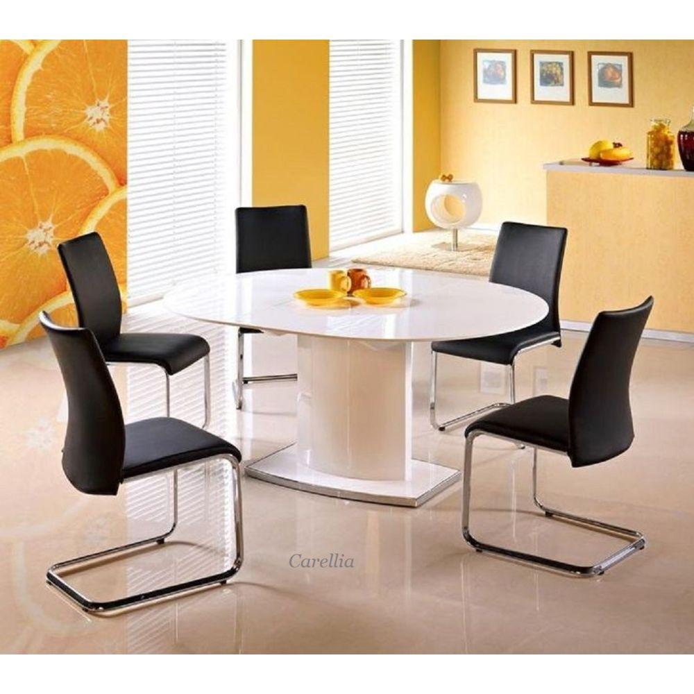 Carellia Table à manger extensible 120÷160 cm x 120 cm x 76 cm