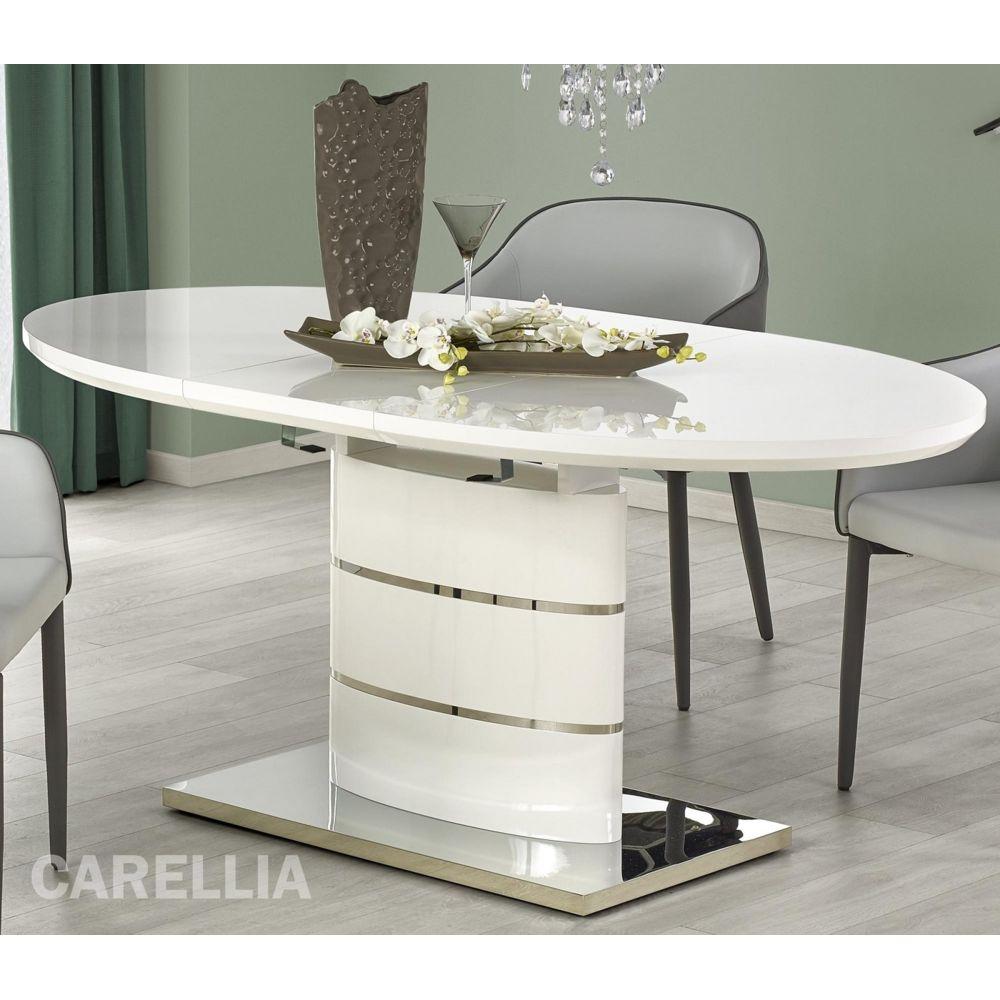 Carellia TABLE A MANGER OVALE EXTENSIBLE ? L : 140 ÷ 180 CM X P : 90 CM X H : 76 CM