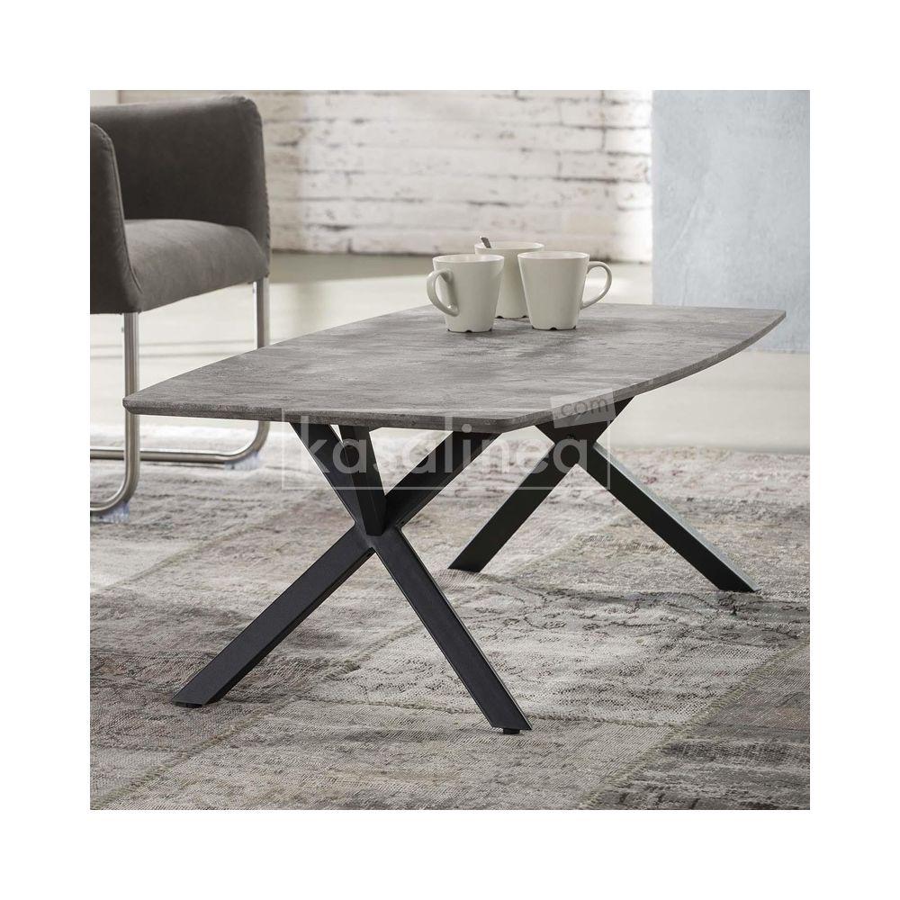 Kasalinea Table basse design effet béton TIAGO 2