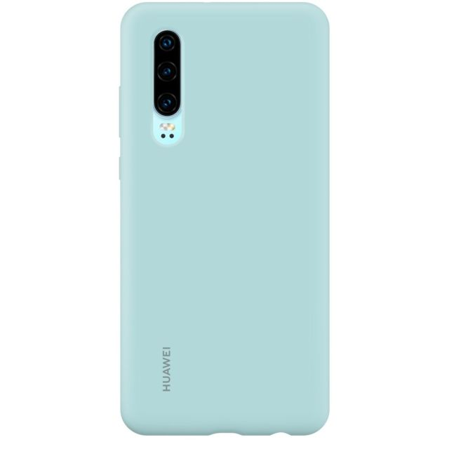 Huawei - Coque Silicone P30 - Bleu Clair - Accessoires pour Smartphone Huawei P30