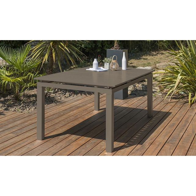Dcb Garden - Table de jardin sable extensible Zahara 180 / 240 cm - Tables de jardin
