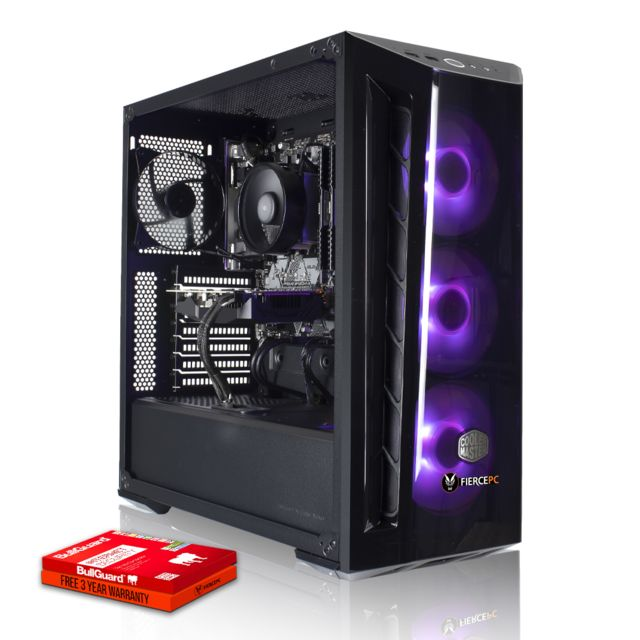 Fierce Pc - Fierce Ranger Gamer PC AMD Ryzen 5 3600 6x4.2GHz 16Go RTX 2060 6Go Gaming Computer Ordinateur - Ordinateur de Bureau Gaming