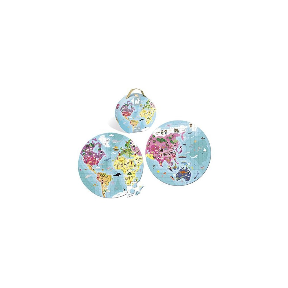 Janod Janod Our Blue Planet Round Double Sided Puzzle
