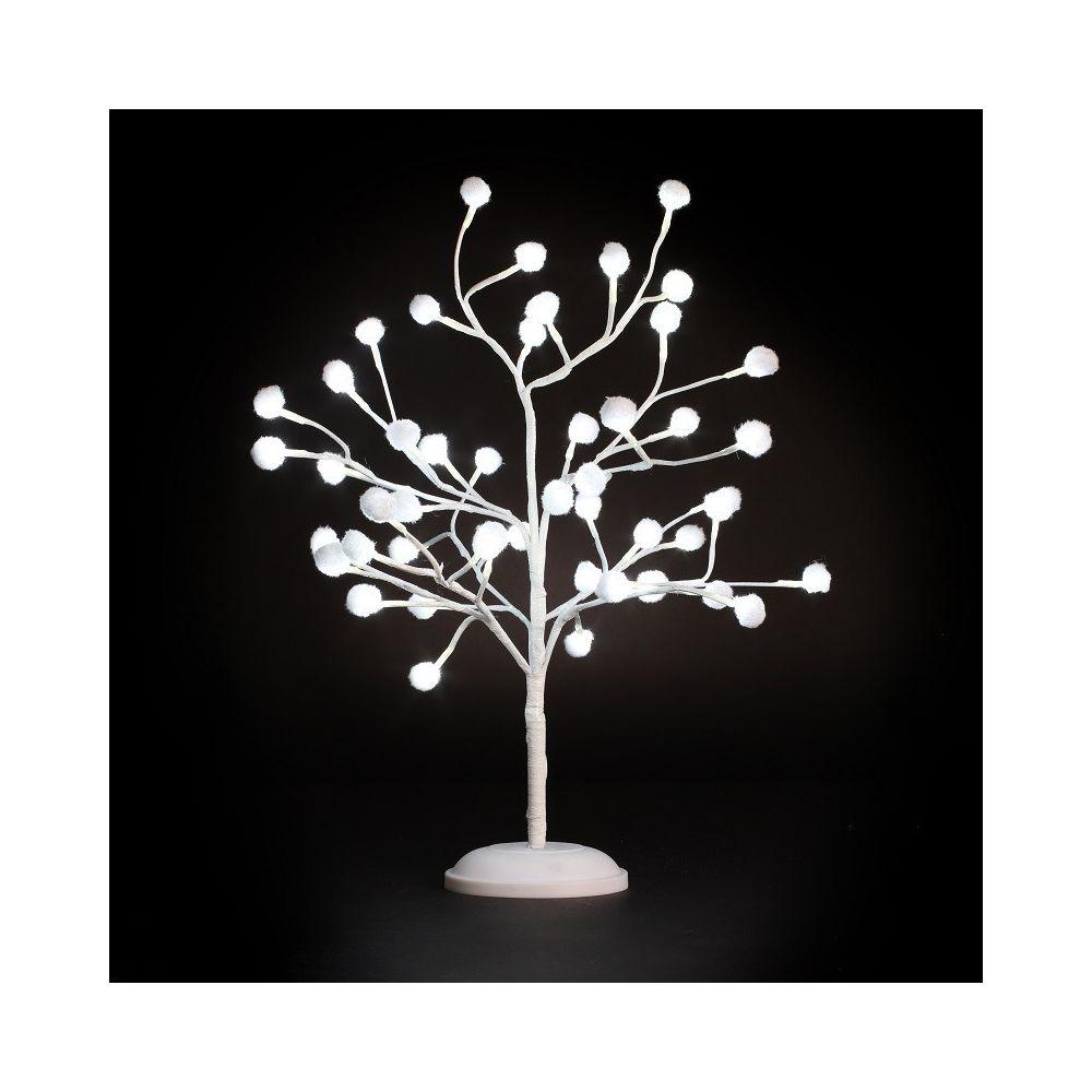JJA Arbre lumineux décor coton 48 Leds H 60 cm