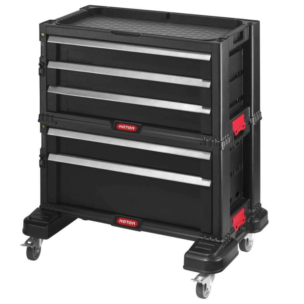 Keter Keter Coffre à outils modulaire à tiroirs Noir