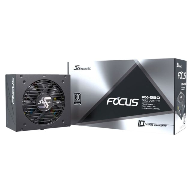 Seasonic - Focus PX 550 550W - 80 Plus Platinum Seasonic   - Alimentation modulaire