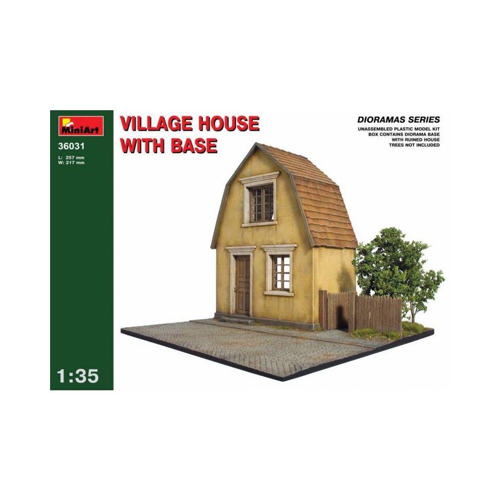 Mini Art Village House W/base - Décor Modélisme