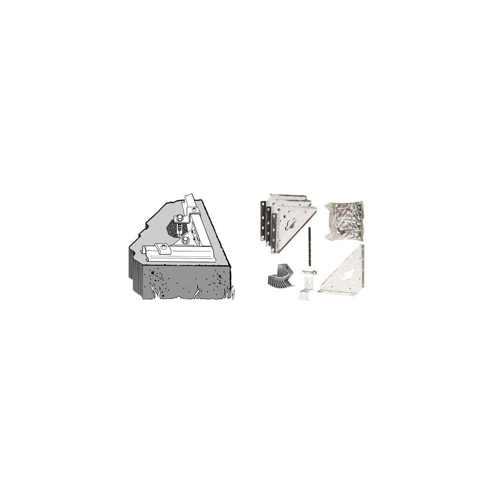 Chalet & Jardin CHALET&JARDIN - Kit ancrage pour pose sur béton