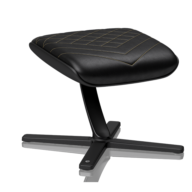 Chaise gamer Noblechairs FOOTREST - Noir et Or