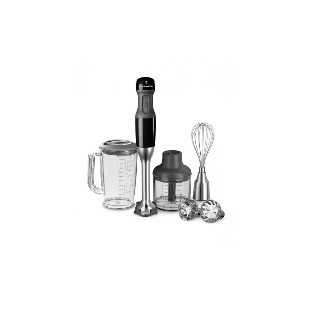 Kitchenaid KITCHENAID Mixeur Plongeant 2 pieds, fouet, hachoir Noir 5KHB2571EOB