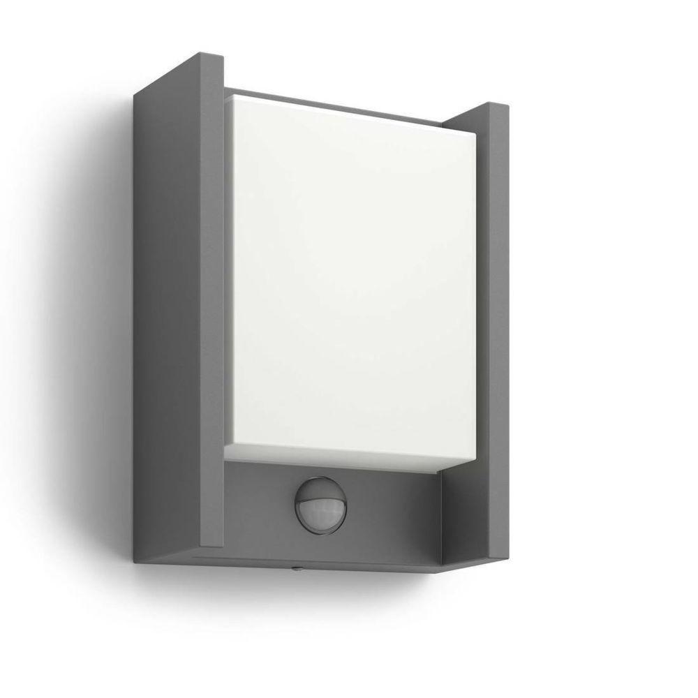 Philips ARBOUR - Applique d'extérieur LED avec détecteur Anthracite H22cm - Luminaire d'extérieur Philips designé par