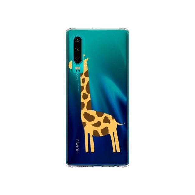 Apple - Coque Huawei P30 Girafe Giraffe Animal Savane Transparente - Petit Griffin - Accessoires pour Smartphone Huawei P30