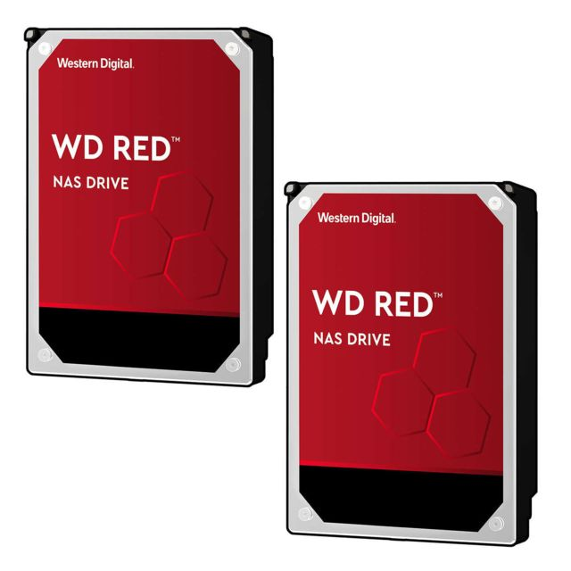 "Western Digital - Lot de 2 WD RED 4 To - 3,5"""" SATA III 6 Go/s - Cache 256 Mo - Rouge - Disque Dur interne"