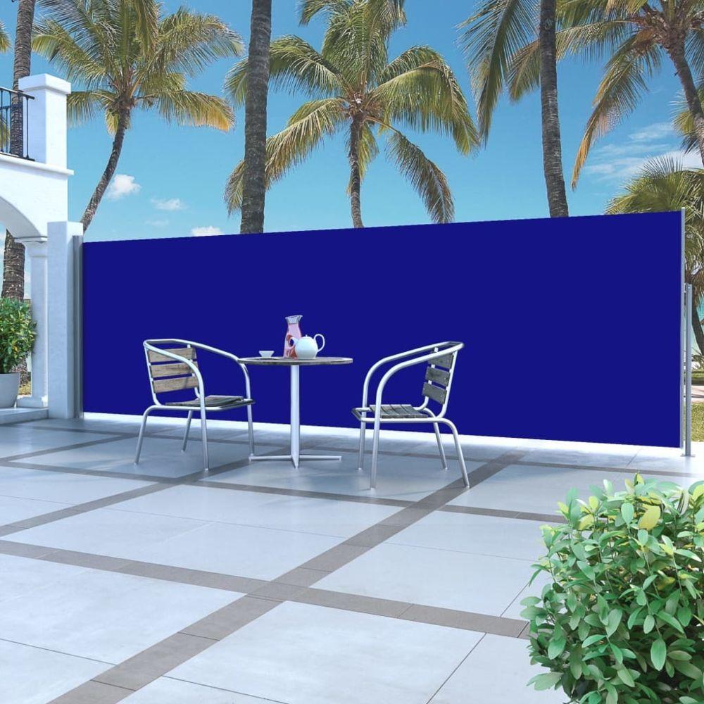 Vidaxl Auvent latéral rétractable 160 x 500 cm Bleu - Pelouses et jardins - Vie en extérieur - Parasols et voiles d'ombrage | B
