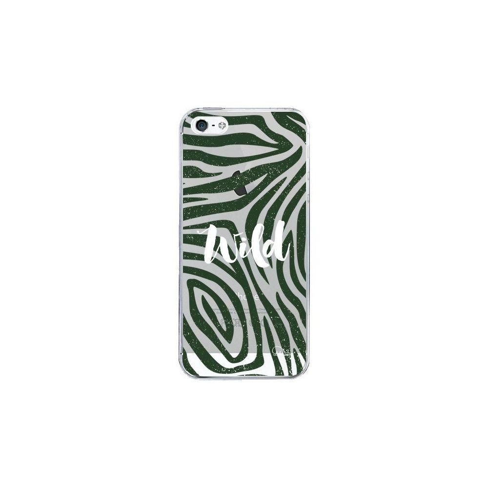 Apple - Coque iPhone 5/5S et SE Wild Zebre Jungle Transparente - Lolo Santo