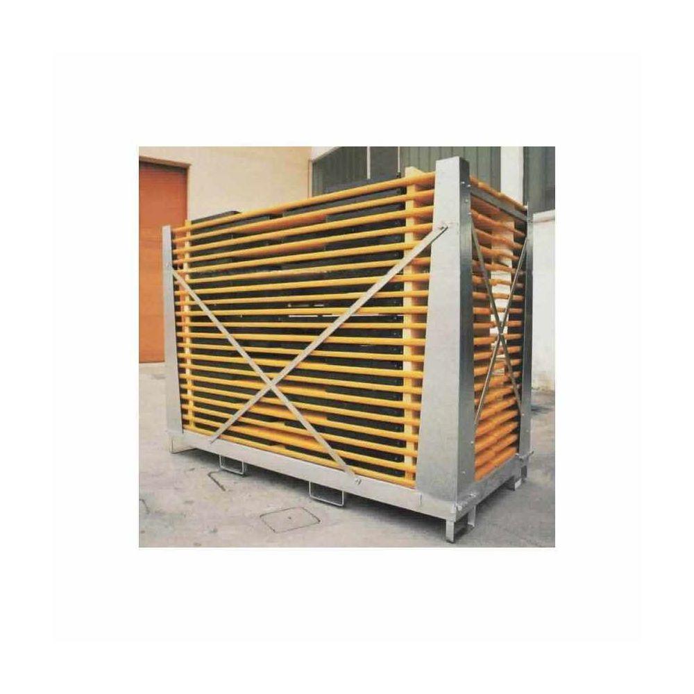 Wood Decor Boite de Stockage et chariots élévateur Boîte Cage Galvanisée Pour tables bancs Cagebox