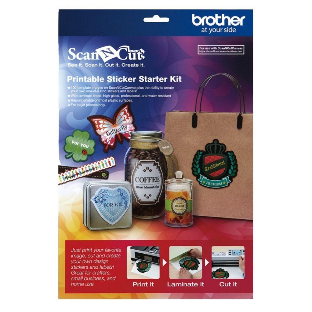 Brother Kit de démarrage pour autocollants imprimables Art
